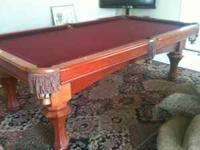 For sale is a World of Leisure 8' 3piece slate pool