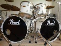 Today I am offering my Pearl World Series drum kit. I