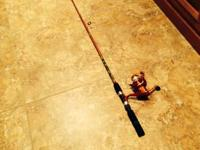 Red WORMGear WG-SPN/AST/A Fishing Pole for sale. Fairly