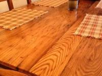 Beautiful hand crafted table and chair set. 6 chairs.