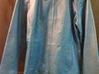 Really nice blue (sailor blue) leather jacket Brand New