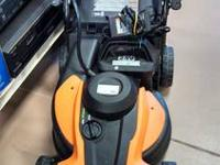 The Worx WG775 cordless mower takes the chore out of