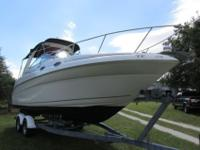 This is a very clean 2004 Sea Ray 260 Sundancer express