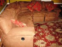 Lazy Boy wrap around sofa with two (2) built in