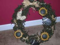 Country wreath - changing decor. First $15 gets it.