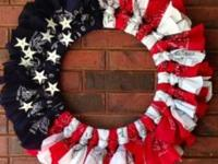 Fourth of July wreaths. Show your pride with beautiful