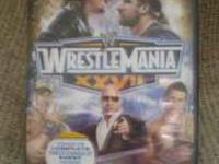 I have a brand new 2 disc DVD set of Wrestle Mania