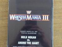 WrestleMania DVD lot, WrestleMania 3 - $10, 18 - $15,