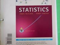 Unbound variation of Statistics by McClave and Sincich