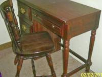 For Sale: Writing desk w/ chair. Desk has Three drawers