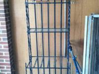 "Wrought iron bakers rack. 72"" tall. 26.5"" wide.  Glass"