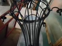 Wrought Iron Chandelier. $75.  Come view this and
