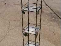 Pretty Wrought Iron decorative shelf. There are 3