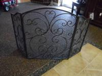 Very Nice Wrought Iron Fire Place Decorative Screen
