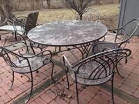 "Fabulous quality patio furniture: 53"" Round Wrought"