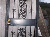 Wrought iron security door and frame. $30 obo text or