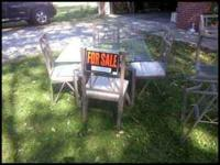 TABLE WITH 4 CHAIRS CUSHIONED SEATS $95.00 BUFFET TABLE
