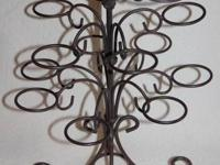Wrought Iron Candle light Owner.  Holds 15 candle