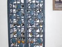 Wrought Iron Wine Cabinet custom made holds sixty three