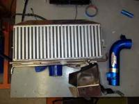 HELLO I HAVE BIG TOP MOUNT INTERCOOLER POLISHED ALUM