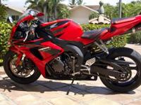 2007 Honda CBR1000RR with only 8,000 miles. This
