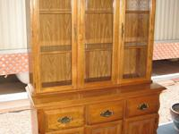 Sold. A BEAUTIFUL WELL MAINTAINED Two Piece Solid Oak
