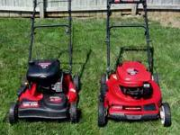 I have a Toro and a Troy-Bilt self. prop. mower. Both