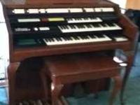 wulitzer organ with synstizer and tape deck. good