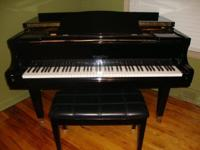 WURLITZER BALDWIN GRAND PIANO EBONY FINISH. REQUIREMENT