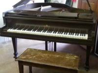 Wurlitzer Kingston Baby Grand Piano With Stool $750