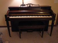 NEW PRICE!! 1942 Wurlitzer Piano, bench included. Good