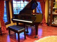 Stunning Wurlitzer Professional Grand Piano C173-HPE