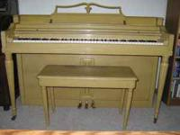 Wurlitzer Spinet Piano Good condition Needs tuning If