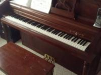 Wurlitzer piano in fair to good condition, upright
