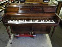 Wurlitzer Upright Spinet Piano Compact Style Wood, in