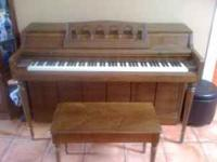 Wurlitzer piano. Its in good shape. Comes with bench.