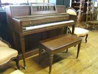 1960 - 1970 Wurlitzer spinet piano & bench Serial #
