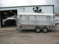 This 16 amp 039 Aluminum stock trailer is 6 amp 039 8