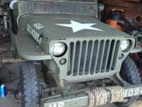 1942 ford GPW jeep matching number 90% original parts