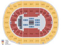 Pair of two tickets in the following section for wwe