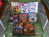 Hi, I'm selling my: WWE WWF Wrestling DVDS Wrestlemania