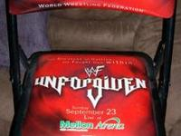 THIS FOLDING CHAIR WAS RINGSIDE DURING THE 2001