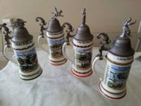 WWI Regimental Beer Steins, ARTILLERY, CALVARY,