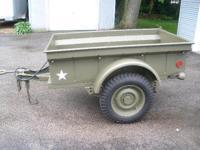 Restored 1945 Converto T-6 1/4 ton Jeep trailer,