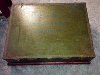 Antique WWII engineers trunk 1943 remaining on a dark