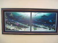 Wyland under sea canvas painting. Sign by him. Perfect