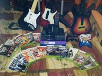 I have a X box 360 2 controllers rock band set with
