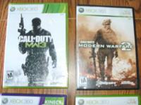 x box 360 games $10.00 each pick up only