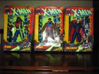 $15 EACH OR $35 FOR SETS OF 3 X-MEN DELUXE EDITION 10""