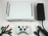 Xbox 360 W/Hard Drive.  1 Controller.  All cable